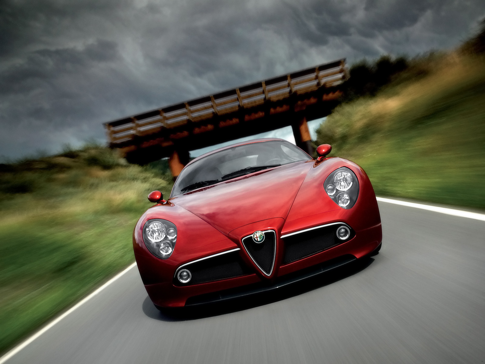 2009 Alfa Romeo 8C Competizione Front Speed Tlit Alfa Romeo 8C Competizione