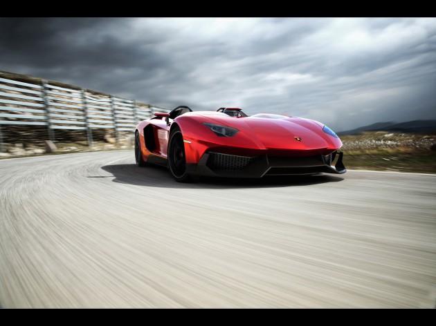 2012 Lamborghini Aventador J Front Angle Speed 2 630x472 2012 Lamborghini Aventador J Front Angle Speed 2