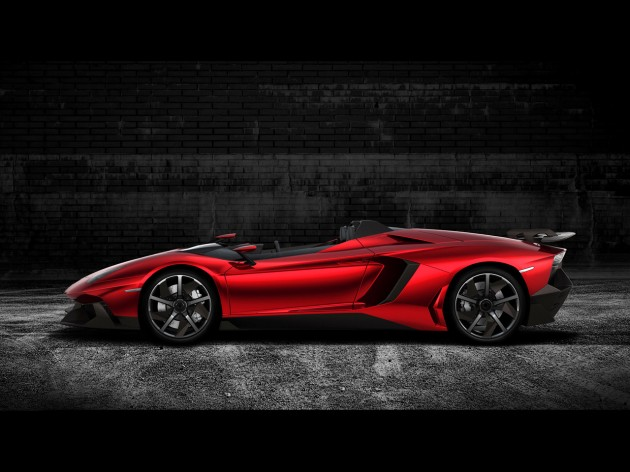 2012 Lamborghini Aventador J Side 630x472 2012 Lamborghini Aventador J Side