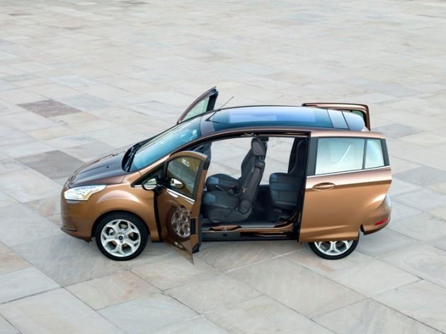 Ford B MAX 630x472 Novo B MAX é a Resposta da Ford à Tendência de Veículos com 'Dimensão Ideal'
