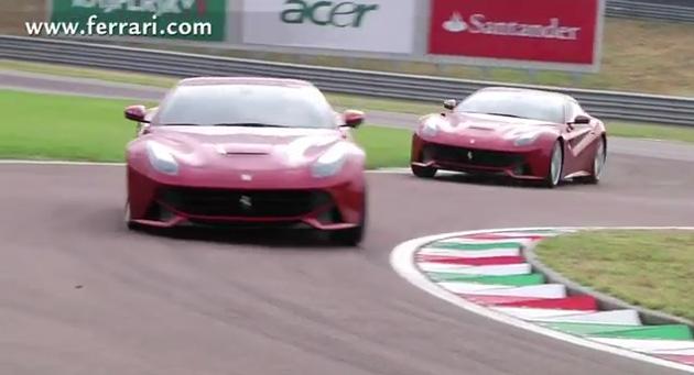 ferrari f12 berlinetta Ferrari F12 berlinetta em acção
