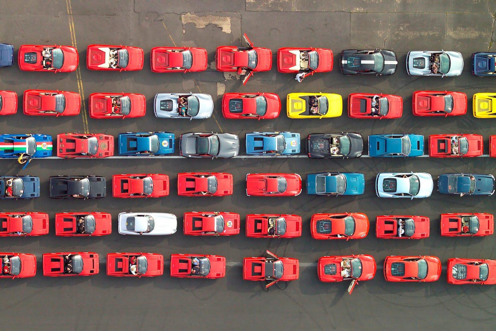 Ferrari guiness 2 Ferrari confirma 1000 carros inscritos para bater o record do Guiness