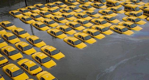 hurricanesandytaxis Ainda as consequências do Furacão Sandy