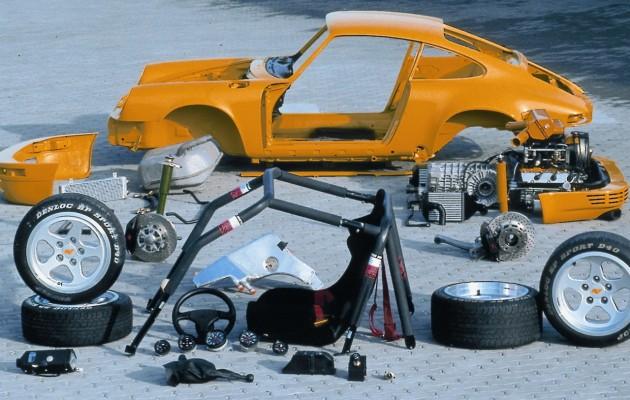1987 ruf ctr yellowbird 630x400 Vista explodida de carros e motores