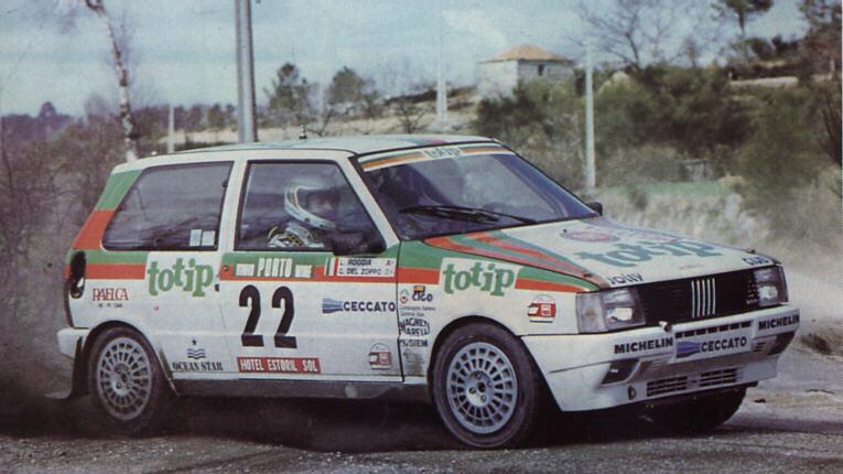 Fotografia De 1986 Portugal Rally Fiat Uno Giovanni Del