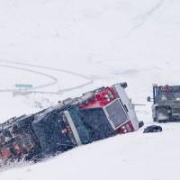 Semi tractor accident, Haul road