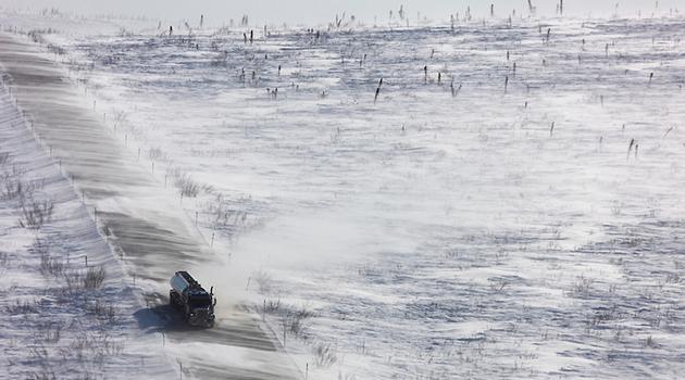 Blowing snow, Dalton Highway