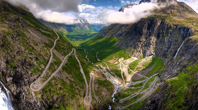 estradas perigosas trollstigen