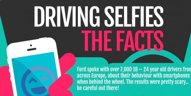 driving selfies 630x317 Jovens tiram selfies e navegam na net enquanto conduzem