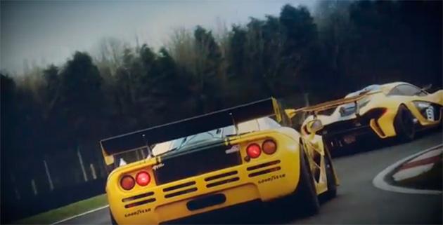 mclaren p1 f1 McLaren P1™ GTR versus McLaren F1 GTR