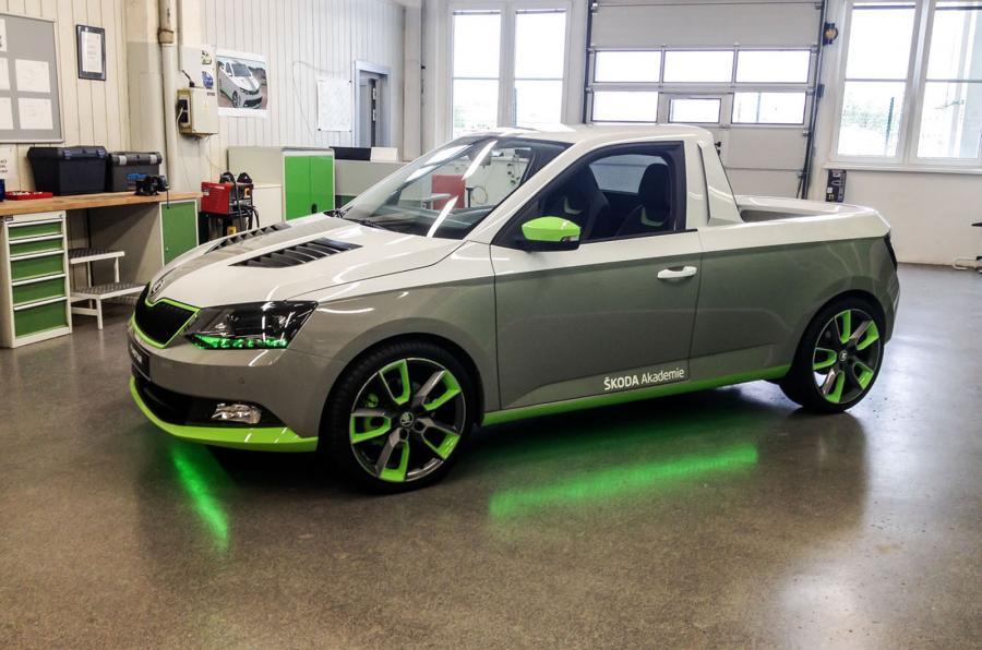skoda funstar 001 Skoda Fabia pick up concept car