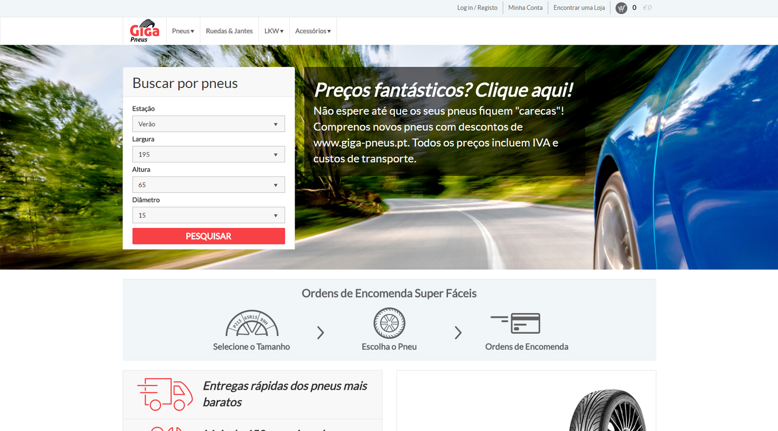 giga pneus Giga Pneus – A melhor solução online para adquirir os pneus que pretende