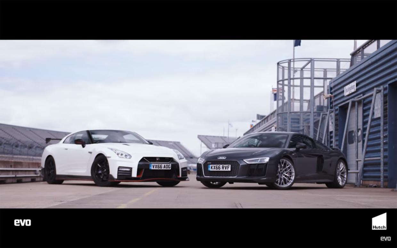 Untitled 1 1 Audi R8 V10 Plus vs Nissan GTR Nismo – Tiff Needell coloca os à prova em pista