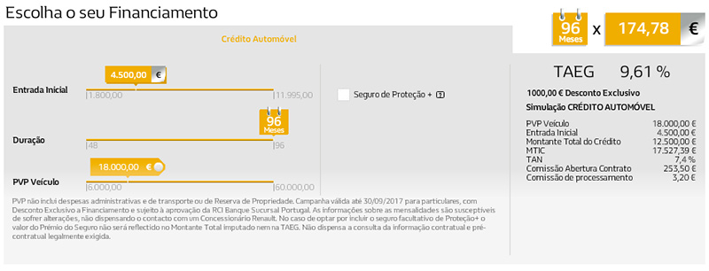 simulador Financiamento Renault