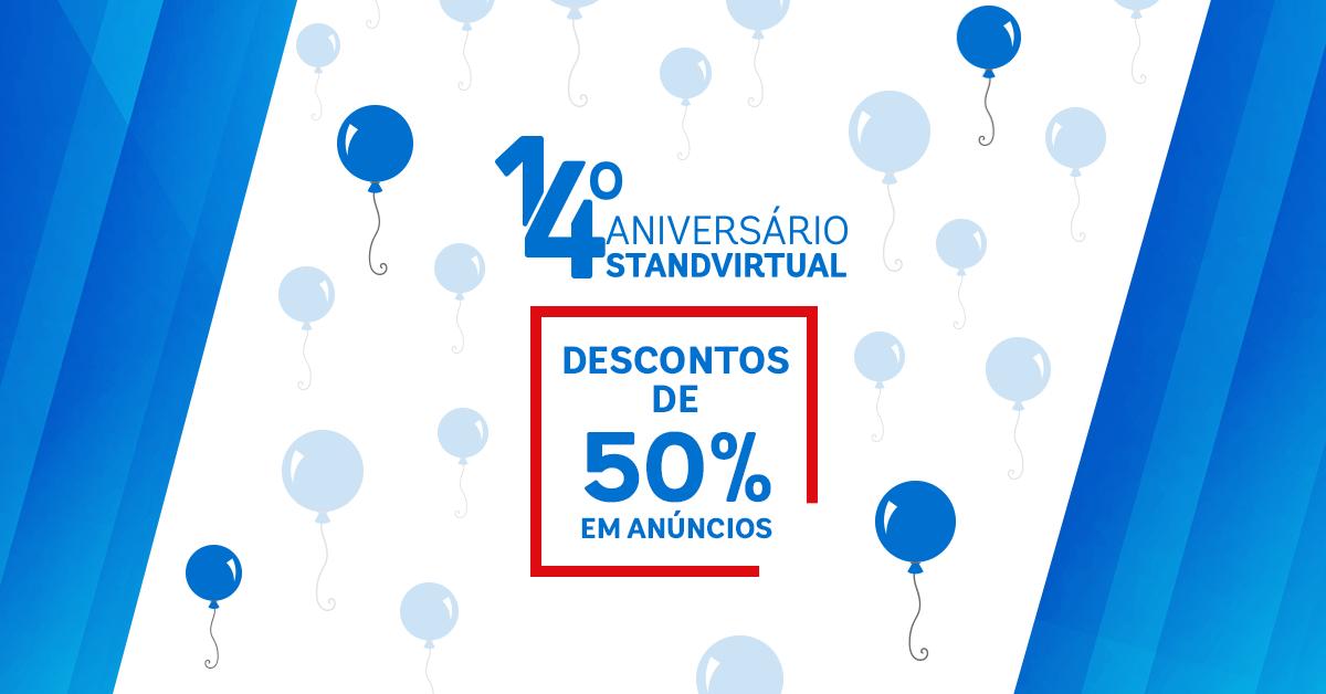 campanha stv 14 Standvirtual celebra 14º Aniversário  com campanha de descontos