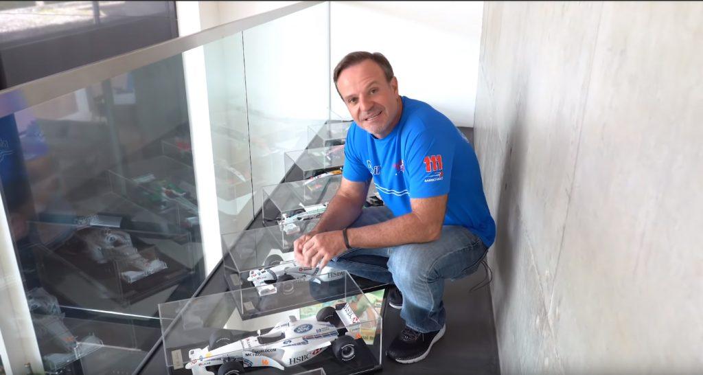 asdasdasdasd 1024x546 Rubens Barrichelo num tour pelas suas miniaturas e troféus de carreira na F1