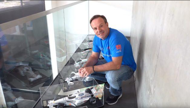 asdasdasdasd 628x356 Rubens Barrichelo num tour pelas suas miniaturas e troféus de carreira na F1