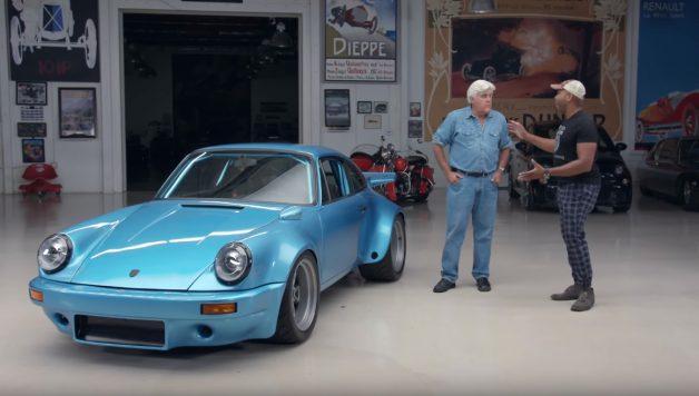 Untitled 2 copy 1 628x356 Jay Leno´s Garage e um Porsche bi turbo com 850 cavalos de potência