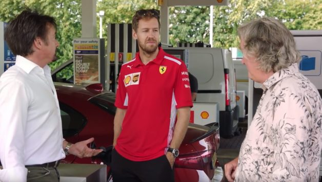 shell 1 628x356 O que fazem juntos James May, Richard Hammond e Sebastian Vettel?