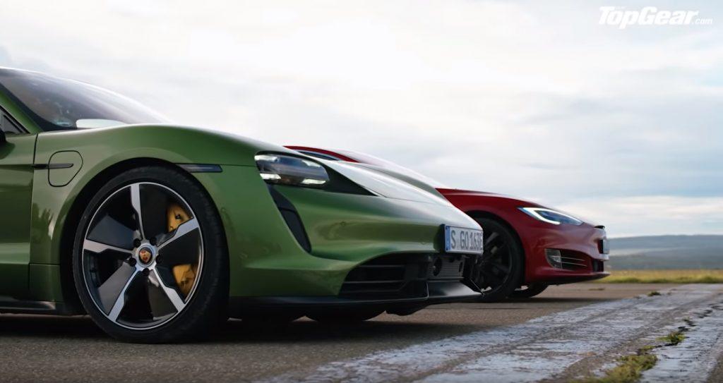 fdfdg 1024x543 Porsche Taycan Turbo S vs Tesla Model S – Topos de gama em duelo