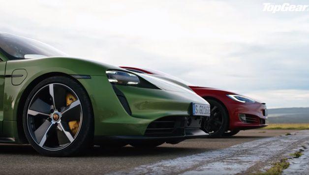fdfdg 628x356 Porsche Taycan Turbo S vs Tesla Model S – Topos de gama em duelo