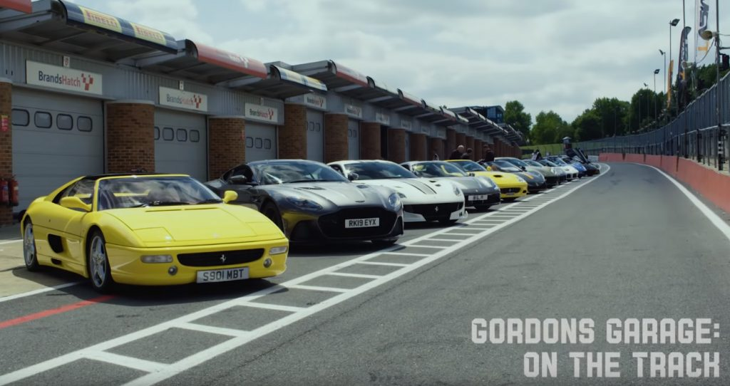 gordon 1024x542 Gordon Ramsay o famoso Chefe leva os seus supercarros para a pista