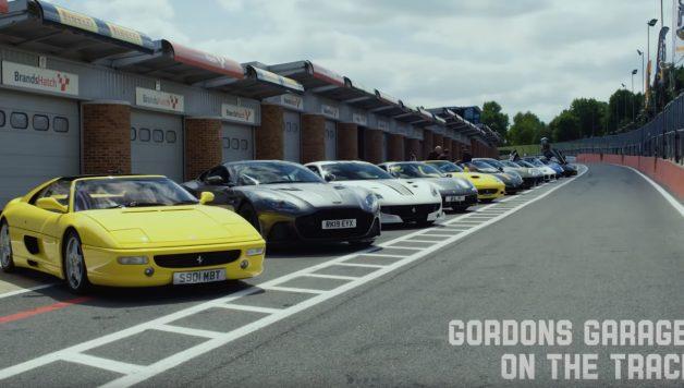 gordon 628x356 Gordon Ramsay o famoso Chefe leva os seus supercarros para a pista