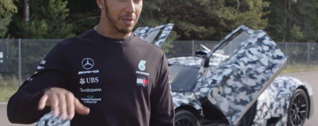 hamilton 628x250 Lewis Hamilton de perto com o novo Mercedes Project One