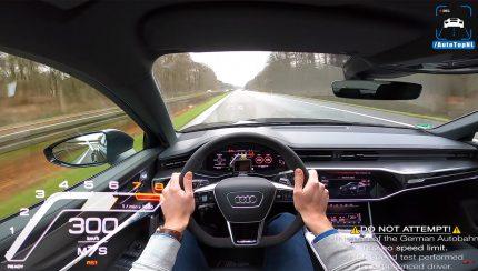 300 430x244 A 300 km/h com a nova Audi RS6 pelo canal AutoTopNL