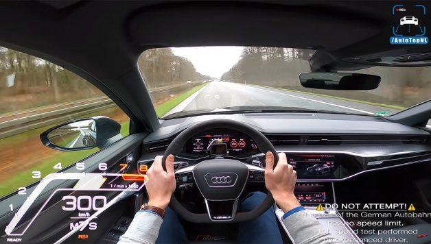 300 628x356 A 300 km/h com a nova Audi RS6 pelo canal AutoTopNL