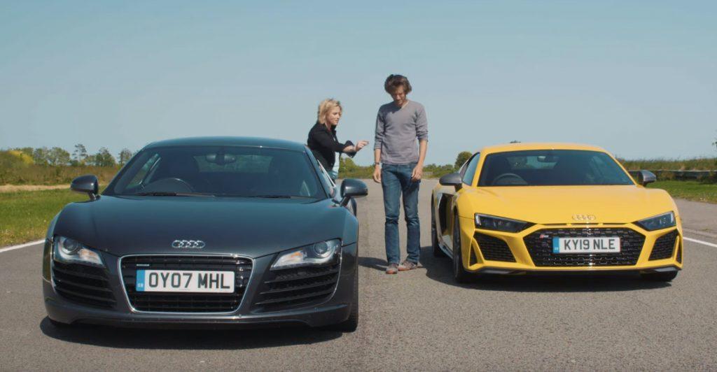 audi r8 1024x532 O último Audi R8 V10 contra o primeiro Audi R8 V8