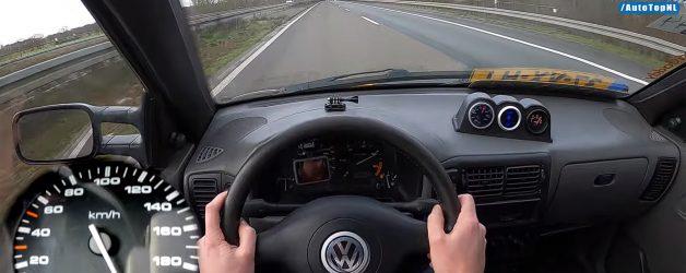 caddy 628x250 VW Caddy TDi do aço a fundo numa Autobahn