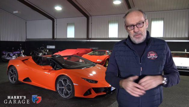 lambo1 628x356 Lamborghini Huracan Spyder EVO em destaque no canal Harry´s Garage