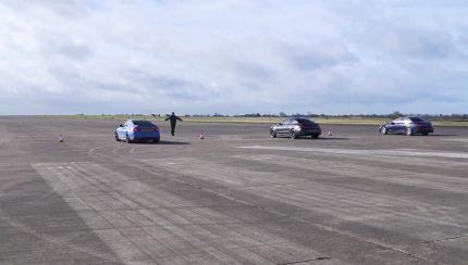 drag 1 430x244 BMW M4 vs AMG C63 S vs Lexus RC F vs BMW M3 E90 vs Mercedes C63 AMG W204   Novos contra os seus antecessores e um Japonês forasteiro