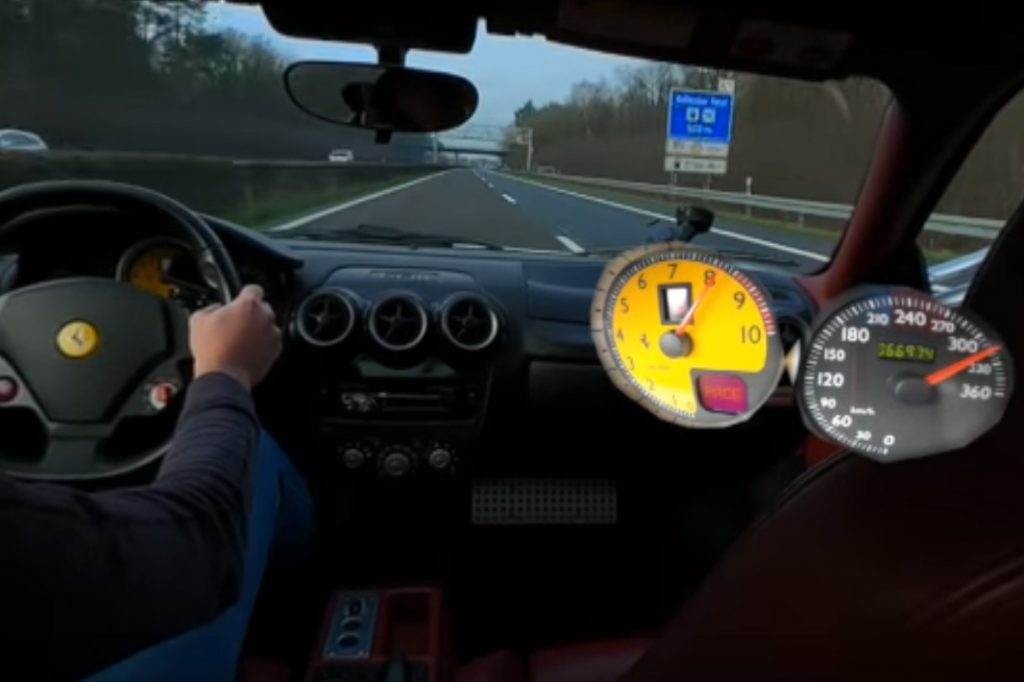 f430 1024x682 Ferrari F430 a fundo numa auto estrada alemã