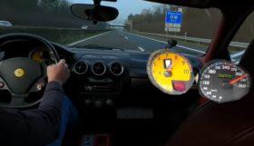 f430 280x161 Ferrari F430 a fundo numa auto estrada alemã