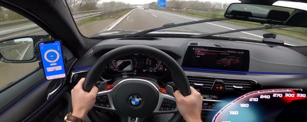 m5 628x250 BMW M5 F90 Competition a fundo numa Autobahn