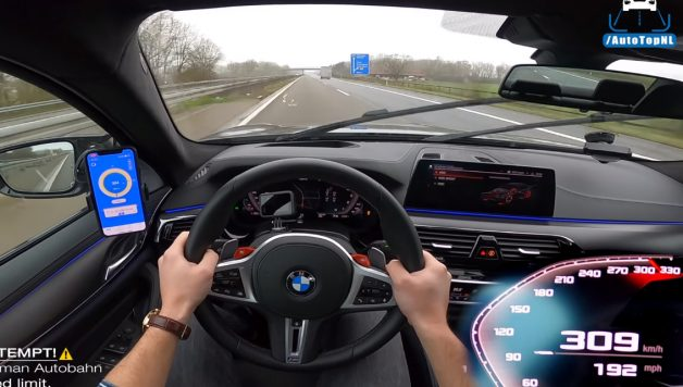 m5 628x356 BMW M5 F90 Competition a fundo numa Autobahn