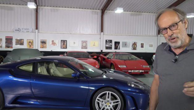 f430 628x356 Ferrari F430 Manual em teste no canal Harry´s Garage