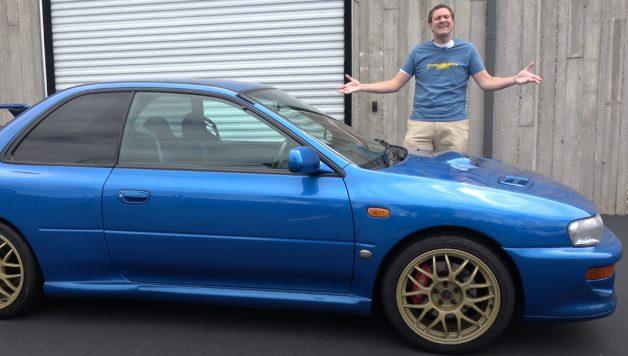 22b 628x356 Doug DeMuro ensaia o lendário Subaru Impreza 22B
