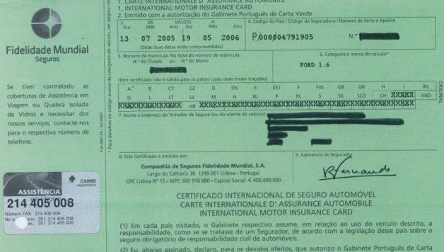 4 CARTA VERDE e1501691067922 628x356 Alteração de cor na carta verde do seguro automóvel