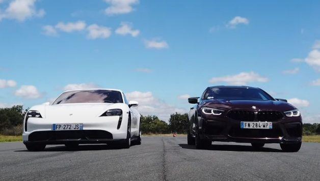 bmw m8 taycan 628x356 Porsche Taycan Turbo S arrasa BMW M8 em aceleração