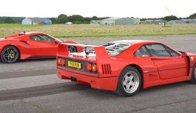 f40 280x161 Lovecars   Tiff Needell coloca Ferrari F40 contra Ferrari 488 Pista