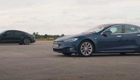 tesla 280x161 Consegue o Porsche Taycan Turbo S bater o Tesla Model S?