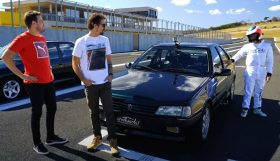 405t16 280x161 Acelerados   Rubens Barrichello ao volante do seu ex Peugeot 405 T16