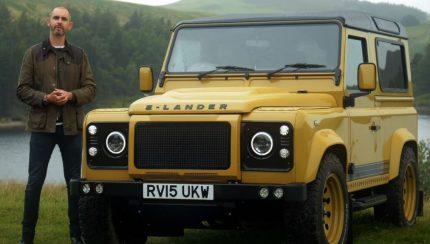 land 430x244 The Late Brake Show   Land Rover Defender convertido a elétrico